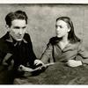 Burgess Meredith and Margo in the stage production Winterset.