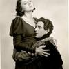 Publicity photo of Katharine Cornell and Basil Bathbone in the stage production Romeo and Juliet.