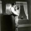 Clark Gable and Zita Johann in the stage production Machinal.