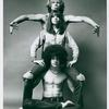 Publicity photo of Barry McGuire, Diane Keaton, and Steve Curry in the stage production Hair