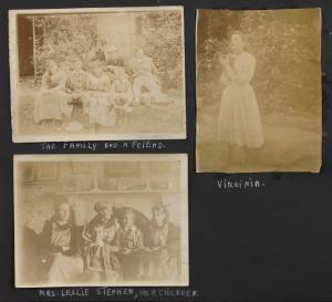 The famiily and a friend; Mrs. Leslie Stephen, her children; Virginia.