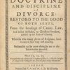 The doctrine and discipline of divorce title page