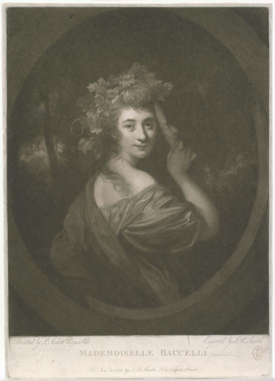 Fascinating Historical Picture of Giovanna Baccelli on 1/20/1783