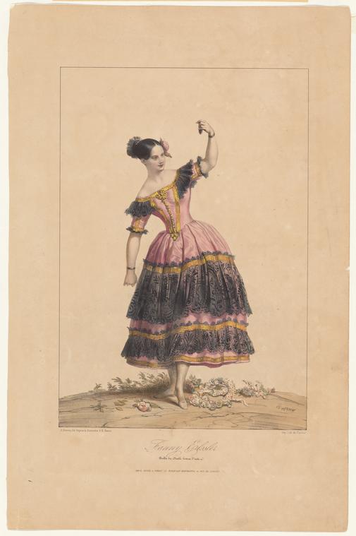 Fascinating Historical Picture of Fanny Elssler in 1842