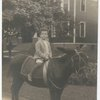 Lincoln Kirstein as a child sitting on a mule, Rochester, N.Y. no. 57