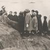 Isadora Duncan with students by sea