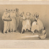 The Bayadères: Amany, Saundirounn, Tillé, Ramgoun & Veydoun dancing the malapou, accompanied by the bard Ramalingan and musicians Saravanini & Devenayagon