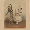 Dona Manuela Perea, known as La Nena, and the Spanish bolero dancer Don Felix Garcia, in the Spanish national dance, bolero caleta