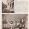 [Harbour Court:.] Top: The terrace. Bottom: The drawing room.
