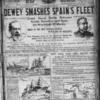 Dewey smashes Spain's fleet.