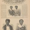 Eliza and Lizzie, children of Dred Scott [top]; Dred Scott [and] his wife, Harriet