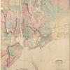 Asher & Adams' map of the bays, harbors and rivers around New York : showing the channels, soundings, lighthouses, buoys &c. and the complete topography of the surrounding country : including Hempstead, Sandy-Hook, South-Amboy, Newark, Yonkers, N. Rochelle & Glencove
