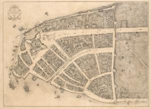 Redraft of the Castello Plan, New Amsterdam in 1660.