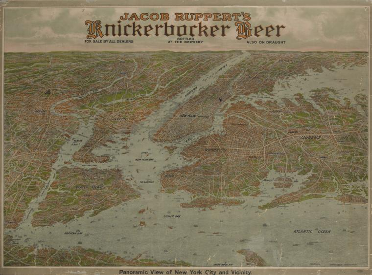 Panoramic view of New York City and vicinity [cartographic material].