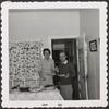 (Taken in the Dewey's kitchen----a Southern buffet supper; Jan. 1960): Nelle Harper Lee and Truman Capote