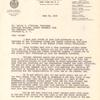 Letter to Walter F. O'Malley rejecting O'Malley's request to build new Dodger baseball stadium on site of Fort Greene Title I