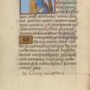 Miniature of St. Helena and True Cross, initial, placemarkers.