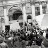 Act Up. [Protest rally in front of Municipal Building.]