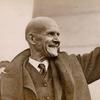 Eugene Debs close-up, waving.