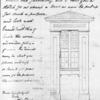 "A. J. Davis, design for bell tower, ""campanile."" Drawing within a letter from Davis to President Swain, 17 June 1845."