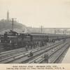First Electric Train, Sept. 30th, 1906. Leaving High Bridge for Grand Central Station.