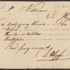 Receipt for furniture. D. Phyfe to William Bayard