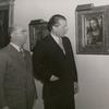 Polish Pavilion. Officials look at painting.