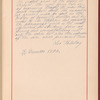 Testimony and signature: Leo Tolstoy, graf, 1828-1910
