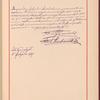 Testimony and signature: Anton Rubinstein, 1829-1894