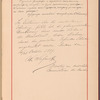 Testimony and signature: Sergei Ivanovich Taneev, 1856-1915 and Vasilii Ilich Safonov, 1852-1918