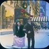 Man and woman dance on street