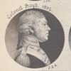 Page from the St.-Mémin collection of portraits. With detail of Colonel Boyd. 1802.
