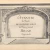 Ouverture du Theatre de la Grande Salle du Palais Cardinal. Mirame tragicomedie. [Series title page]