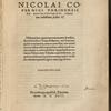 Nicolai Copernici Toriensis De revolvtionibvs orbium cœlestium [title page].