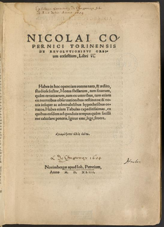 Fascinating Historical Picture of Nicolaus Copernicus in 1543