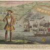 Captain Bartho. Roberts with two ships, viz. the Royal Fortune and Ranger, takes in sail in Whydah Road on the coast of Guiney, January 11, 172½.