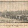 Hölzerner Brück-canal auf 26: Steinpfeilern über den Mohawk