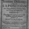 The sea-mans dictionary: [title page]