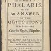 A dissertation upon the Epistles of Phalaris, title page