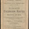 Summer excursion routes, cover page