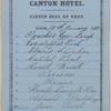 Tiffin bill of fare Canton Hotel.
