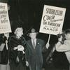Activist Bessie Buchanan, author Laura Hobson and NAACP official Walter White picketing the Stork Club, in New York City, to protest discriminatory treatment of entertainer Josephine Baker, October 26, 1951.
