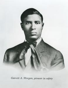 Garrett A. Morgan, pioneer in safety.