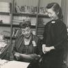 Regina Andrews (seated) with librarian Edna Law