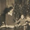 Ella Weaver and son Robert, Jr. at Christmas time.