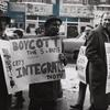 Members of the Congress of Racial Equality and other organizations picketing the F.W. Woolworth store, in Harlem, in support of student sit-ins in the South, ca. early 1960s.