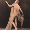 Partially clad female impersonator in erotic pose