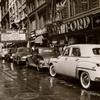 Parking congestion - West 125th Street, Harlem, looking west, showing line of parked cars, September 17, 1949.