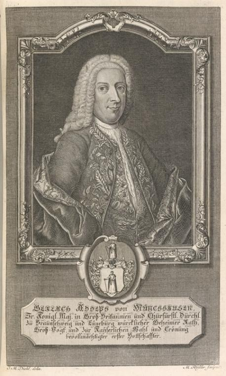 Fascinating Historical Picture of Johann Georg Finck in 1742