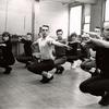 Bob Fosse (right) rehearsing dances for the stage production Pleasures and Palaces.
